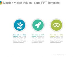 Mission Vision Values Icons Ppt Template