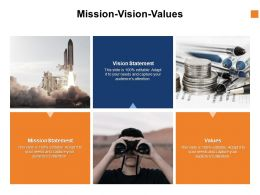 Mission Vision Values Ppt Powerpoint Presentation Slides Mockup