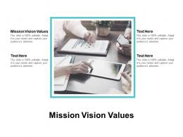 Mission Vision Values Ppt Powerpoint Presentation Slides Portfolio Cpb