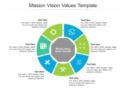 Mission Vision Values Template Ppt Powerpoint Presentation Templates Cpb
