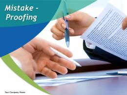 Mistake Proofing Powerpoint Presentation Slides