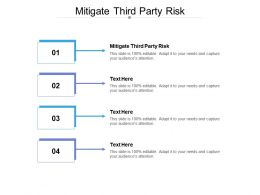 Mitigate Third Party Risk Ppt Powerpoint Presentation Styles Outfit Cpb