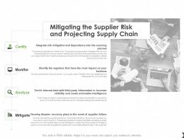 Mitigating The Supplier Risk And Projecting Supply Chain Ppt Infographics