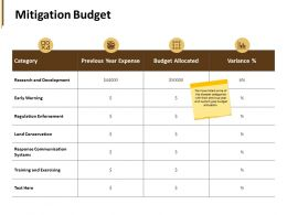Mitigation Budget Research And Development Ppt Powerpoint Presentation Pictures Skills