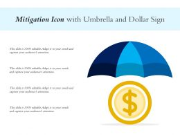 Mitigation Icon With Umbrella And Dollar Sign