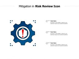 Mitigation In Risk Review Icon