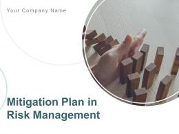 Mitigation Plan In Risk Management Powerpoint Presentation Slides