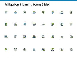 Mitigation Planning Icons Slide Communication A82 Ppt Powerpoint Presentation