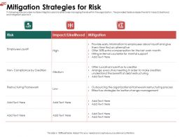 Mitigation Strategies For Risk Low Ppt Powerpoint Presentation Slide