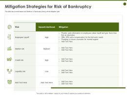 Mitigation Strategies For Risk Of Bankruptcy Alternative Ppt Powerpoint Presentation Inspiration