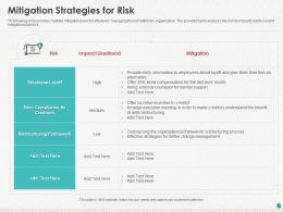 Mitigation Strategies For Risk Ppt Powerpoint Presentation Icon Outline