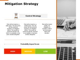 Mitigation Strategy Control Strategy Ppt Powerpoint Presentation Professional Gridlines