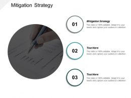 Mitigation Strategy Ppt Powerpoint Presentation Infographic Template Icons Cpb