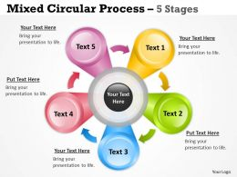 Mixed Circular Process Diagram With 5 Stages