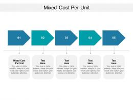 Mixed Cost Per Unit Ppt Powerpoint Presentation Outline Layout Cpb