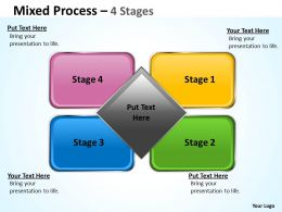 Mixed Diagram 4 Step For Marketing