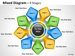 Mixed Diagram 9 Stages For Business