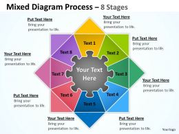 Mixed Diagram Process 8 Stages For Business