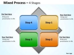 Mixed Diagram With 4 Stages For Sales