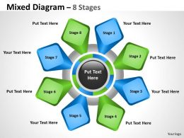Mixed Diagram With 8 Stages For Business