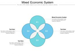 Mixed Economic System Ppt Powerpoint Presentation Professional Aids Cpb