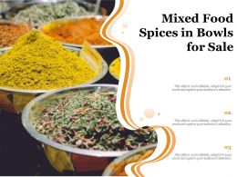 Mixed Food Spices In Bowls For Sale