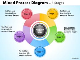Mixed Process Business Diagram 5 Stages