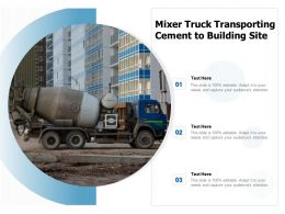 Mixer Truck Transporting Cement To Building Site