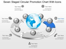 Mk Seven Staged Circular Promotion Chart With Icons Powerpoint Template Slide