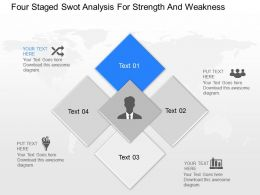 ml Four Staged Swot Analysis For Strength And Weakness Powerpoint Temptate