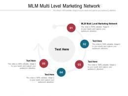 Mlm Multi Level Marketing Network Ppt Powerpoint Presentation Gallery Clipart Images Cpb