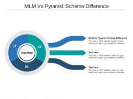 MLM Vs Pyramid Scheme Difference Ppt Powerpoint Presentation Layouts Graphics Cpb