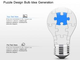 mm Puzzle Design Bulb Idea Generation Powerpoint Template