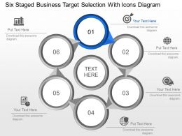 Mm Six Staged Business Target Selection With Icons Diagram Powerpoint Template Slide