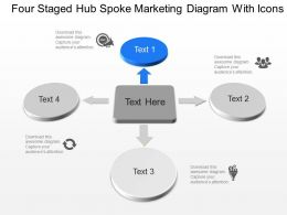 Mn Four Staged Hub Spoke Marketing Diagram With Icons Powerpoint Template Slide