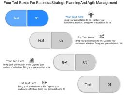 mn Four Text Boxes For Business Strategic Planning And Agile Management Powerpoint Temptate