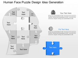 mn Human Face Puzzle Design Idea Generation Powerpoint Template
