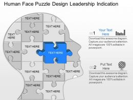 mo Human Face Puzzle Design Leadership Indication Powerpoint Template