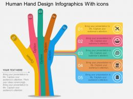 mo Human Hand Design Infographics With Icons Flat Powerpoint Design