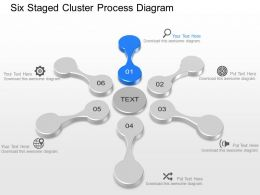 Mo Six Staged Cluster Process Diagram Powerpoint Template Slide