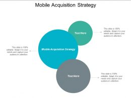 Mobile Acquisition Strategy Ppt Powerpoint Presentation Styles Inspiration Cpb
