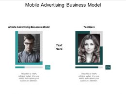 Mobile Advertising Business Model Ppt Powerpoint Presentation Gallery Professional Cpb
