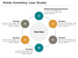 Mobile Advertising Case Studies Ppt Powerpoint Presentation Infographic Template Graphics Design Cpb