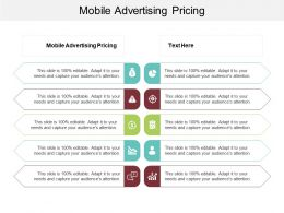 Mobile Advertising Pricing Ppt Powerpoint Presentation Infographic Template Slides Cpb
