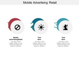 Mobile Advertising Retail Ppt Powerpoint Presentation Icon Guidelines Cpb