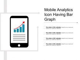 Mobile Analytics Icon Having Bar Graph