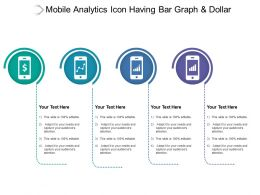 Mobile Analytics Icon Having Bar Graph And Dollar