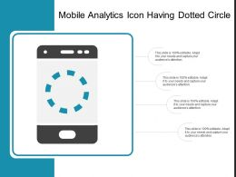 Mobile Analytics Icon Having Dotted Circle