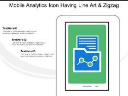 Mobile Analytics Icon Having Line Art And Zigzag Line