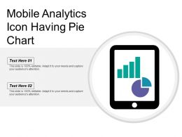 Mobile Analytics Icon Having Pie Chart